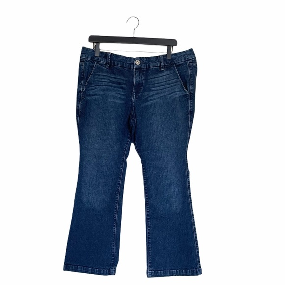 Torrid Dark Wash Extra Short Bootcut Jeans